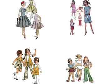Pick Any 4 Patterns - Vintage Pattern Lot - U Pick