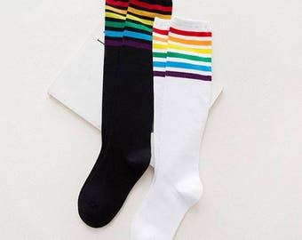 Personalized Rainbow Knee High's
