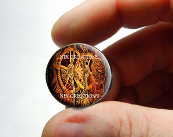 Glass Cabochon - Steampunk Gears Design 3 - for Jewelry and Pendant Making