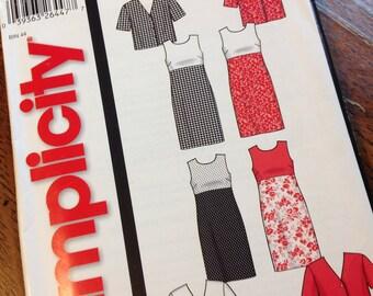 Simplicity Pattern 5625, 2000's Pattern, Sleeveless Dress Pattern, Jacket Pattern, Sizes 10 to 20 Pattern, Uncut Pattern, Easy Sew Pattern