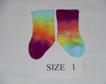 Baby Socks, Hand Dyed Baby Socks, Bamboo Baby Socks,  Bamboo Socks