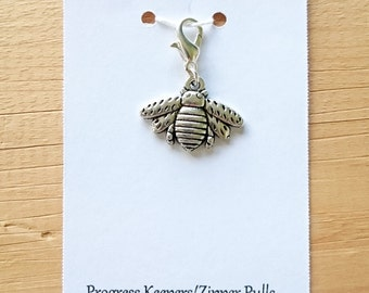 Bumble Bee Progress Keeper, Knitting Marker, Crochet Stitch Marker, Removable Stitch marker, Zipper Pull for your Project Bag