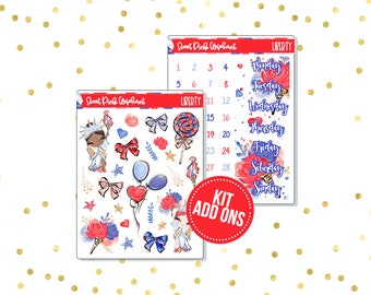 Liberty // Kit ADD ONS-Stickers for the EC Happy Planner Life planner