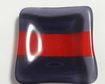 Fused Glass Small Square Dish