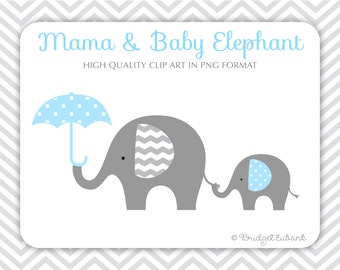 Elephant clipart, Baby elephant clipart, Elephant clip art, baby shower clipart, baby boy clipart, Commercial Use, INSTANT DOWNLOAD