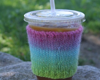 ombre pink, purple, blue & green cozy
