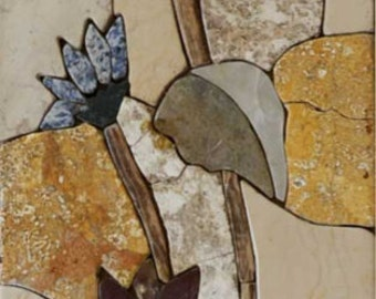 Flower Pattern Mosaic Tile Art