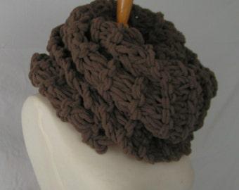 Cowl Handknit Giant CLAIRE COWL  Soft Acrylic Scarf Neckwear Handknit