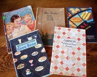 Advertising Cookbook Pamphlets - 5 cookbooks (1930 - 1940)