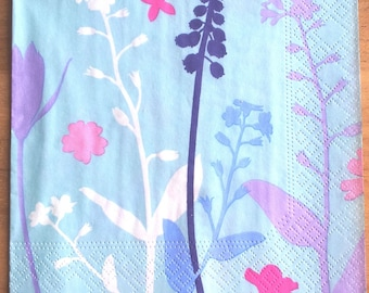 Sky blue paper towel