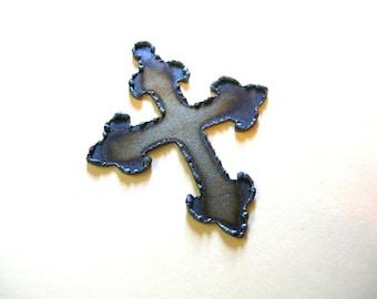 Laser Cut Cross Pendant - Burnt Cross - Cross Embellishment - Gothic Cross