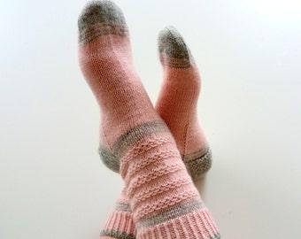 """Strickanleitung, Socken """"Pink Mood"""", Socken stricken, Strickmuster, Strickanleitungen"""