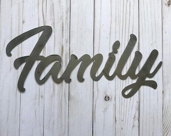 Metal Family Word Sign