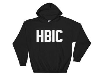 Funny HBIC - Head B***h in Charge Hooded Sweatshirt