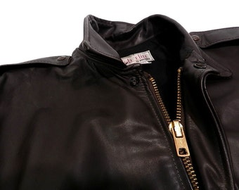 Vintage Brooks Brown Leather Flight Aviator Jacket Made in USA mens bomber size 38