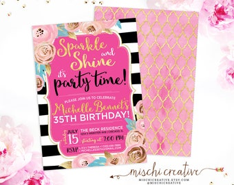 """35th Birthday Invitation for her 