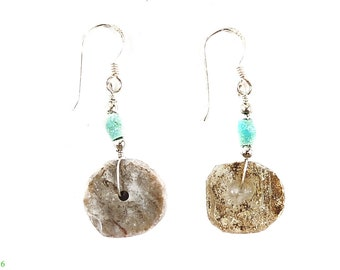 Ancient Roman Glass Earrings Beads Afghanistan 110014