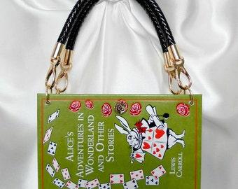 Alice in Wonderland Book Handbag UK - Alice Book Bag - Alice in Wonderland Book Clutch - Alice in Wonderland Purse