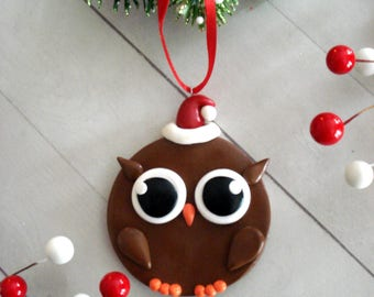 Owl Christmas Ornament Woodland Christmas Decoration Owl Ornament Christmas Tree Ornaments Christmas Decorations Owl Ornaments