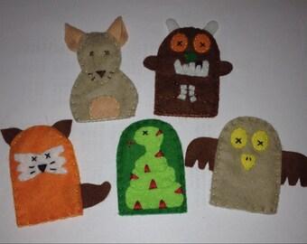 Gruffalo finger puppet set