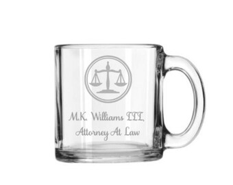 Attorney Gift, Attorney Coffee Mug, Lawyer Guft Mug, Law Student Shot Gift Glasses