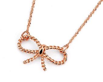 14k Bow, Gold Bow, Bow necklace, Gold Bow Necklace, Dainty Jewelry, Bow Jewelry, 14k Bow Necklace