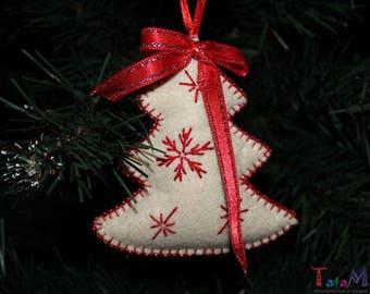 Christmas tree Ornaments New Year's decor Felt toys christmas Decorations on the Christmas tree (9 cm)