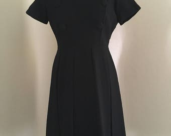 Vintage 1960s Little Black Dress - Vintage Lbd