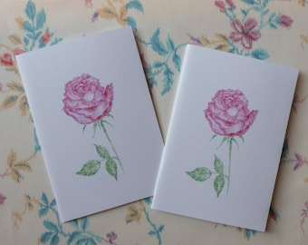 Rose open/close greeting card