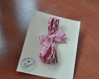Pink Liberty Shoelace : Liberty of London Mitsi Valeria shoelace (135 cms long)