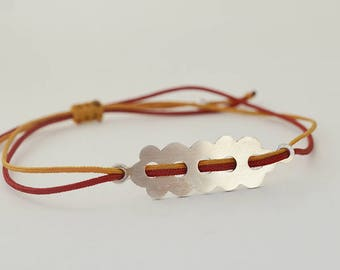 Lace Bracelet, Minimal Lace Bracelet, Silver Bracelet, Adjustable Bracelet, Simple Bracelet, My Crazy Hands Lab, Simple Jewelry