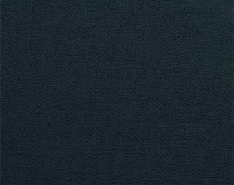 Navy Blue Wool Double Crepe, Fabric By The Yard