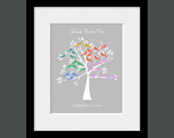 Grandparent Family Tree Wall Print, Parents Anniversary Gift, Personalized Family Tree Print, Anniversary Gift Print, Christmas Gift
