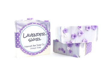Lavender flower Soap- natural soap- handmade- cold process soap