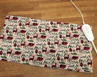 """Electric Heating Pad Replacement Cover 12"""" x 24"""" - forest"""