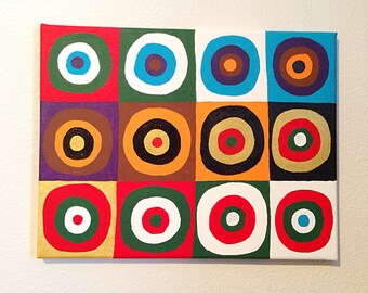 Color Circles Canvas Art