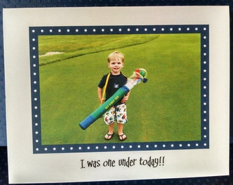 One Under Golf Note Card
