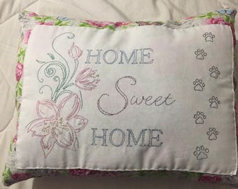 Home Sweet Home Hand Embroidered Made To Order