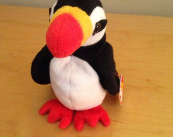 Vintage 1997 Ty Puffer the Puffin Beanie Baby