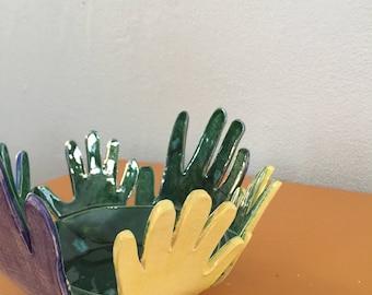 YOUR Kids Hands - Custom Made Bowl