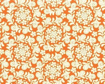Petit Henna Garden Orange Sandi Henderson Michael Miller Fabric, Choose your cut