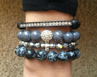 Love On The Rocks Bracelet Stack