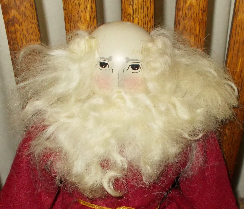 Vintage Santa Peg Doll Edna Oar Young Primitive American Folk