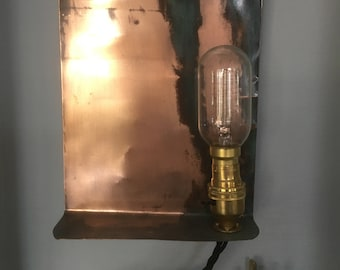 Up-cycled copper light