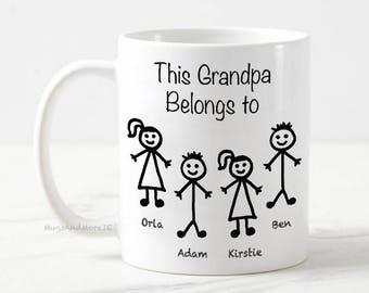 Grandpa tea coffee mug, Personalized Grandpa Mug, Grandpa gift, Custom Grandpa Mug, grandpa coffee mug, Grandparent gift, grandpa mug
