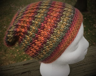 Unforgettable Slouch Hat Multicolored (Wines, Mustard, Olive, Rust) - Teen/Small Adult Ready To Ship