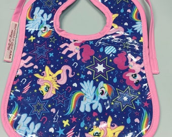Wipeable Baby Bibs - My Little Pony