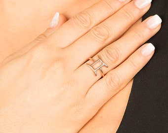 Zodiac Sign Jewelry, Gemini Ring, Zodiac Ring, Astrology Sign Jewelry, Horoscope Ring, Zodiac Sign Ring, Astrology Sign Ring, Silver Ring