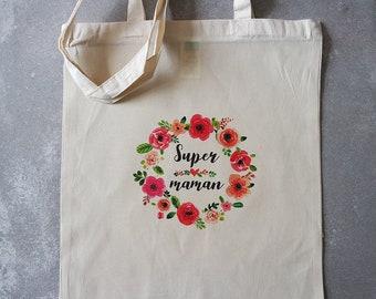 Tote bag mum flower