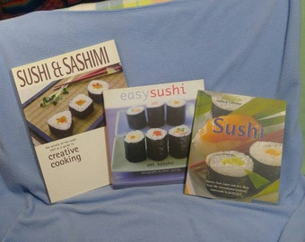SALE! Sushi Lovers! Sushi and Sashimi, Easy Sushi, & Sushi. 3 Beautiful Cookbooks! (was 14.00)